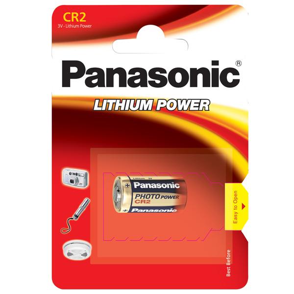 Panasonic, CR2, Batteri, 3V - 1stk.