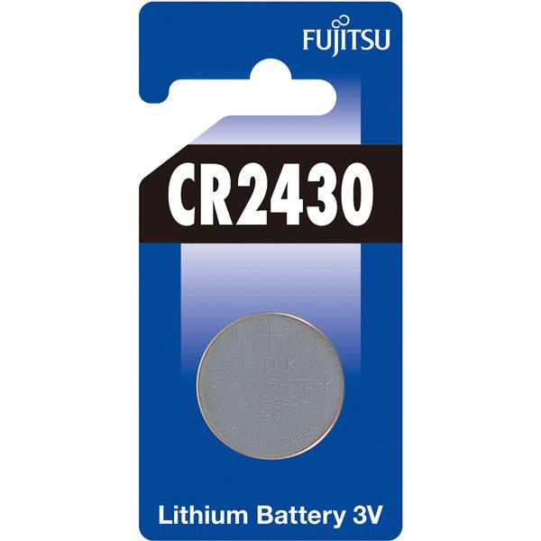 Fujitsu, Knapbatteri, CR2430, Lithium (3V) - 1stk.