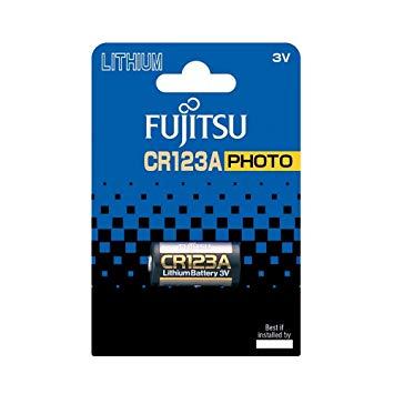 Fujitsu, CR 123A/1BP, Batteri, Lithium, 3V - 1stk.