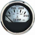 Faria, Spunsilver, Temperaturmåler (40°-120°C), Analog, Sort, Ø53mm - 1stk.