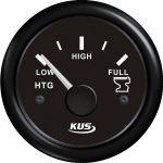 KUS, SeaQ, Tankmåler, Analog, Sort, Ø52mm (0-190Ω) - 1stk.