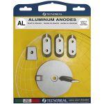 TecnoSeal, Anode kit, Yamaha Kit(40-60Hp), Aluminium - 1 Sæt