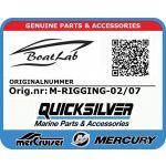 Quicksilver, RIGGING PT75&850& (Orig.nr: M-RIGGING-02/07)