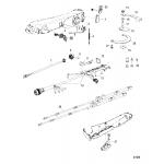 Big tiller handle kit components, 40-60 efi 4-stroke, manual