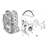 Alternator/belt tensioner mounting