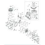 Air compressor components, sn 1b884880 and below