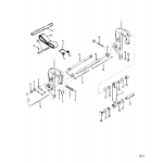 Clamp bracket assembly(non power trim)