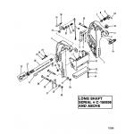 Transom bracket(long shaft s/n-0c160936 & up)