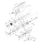 Gear housing(propeller shaft) (counter rotation)