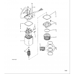Power trim pump(eaton rectangular motor)