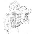 Alternator/starboard cylinder block components