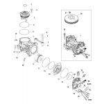 Air compressor components 250, sn# 1b885131 and below