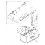 Fuel tank and fuel line assembly (original equipment)