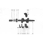 Crankshaft and center main bearing assembly