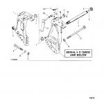 Transom bracket(power trim)(s/n-0c160935 & below)