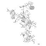Transom and swivel brackets(power trim)