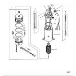 Power trim pump(prestolite round motor)
