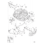 Adapter plate hose routings
