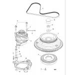 Flywheel and alternator
