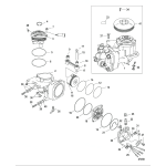 Air compressor components, sn 1b884881 and up
