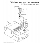 Fuel tank and fuel line assembly (not orig. equip. tank)