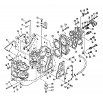 Crankcase and cylinder head