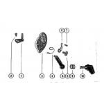 Carburetor choke linkage (40)