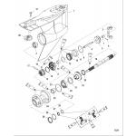Gear housing(prop shaft)(standard rotation)