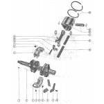 Crankshaft, piston and connecting rod assembly