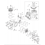 Air compressor components, sn 1b884477 and up