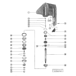 Gear housing assembly, complete (serial group #2) (page 2)