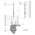 Gear housing assembly, complete (serial group #2) (page 1)