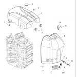 Attenuator/flywheel cover