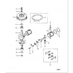 Crankshaft, pistons, and flywheel