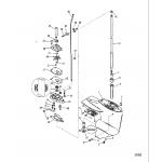 Gear housing, driveshaft - 2.00:1 gear ratio