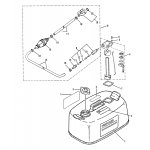Fuel tank and fuel line assembly (orig. equipment)