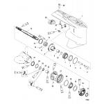 Gear housing, propeller shaft - standard rotation