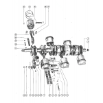 Crankshaft, pistons, and connecting rods