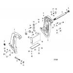 Transom bracket(s/n-usa-0g590000/bel-9973100 and up)