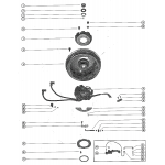 Flywheel assembly and throttle control linkage