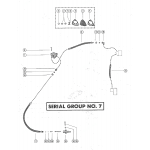 Fuel pump and fuel line assembly (serial group no. 7)