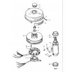 Flywheel and starter motor (50/60)