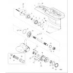 Gear housing, propeller shaft - 2.33:1 gear ratio