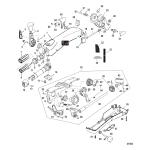 Big tiller handle kit(40-60 efi fourstroke-manual)