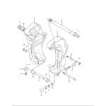 Clamp bracket (dt40tc model: 94-98)