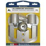 TecnoSeal, Anode kit, Mercury for BravoIII-2004 to present, Aluminium - 1 Sæt