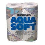 Aqua Soft, Toiletpapir, Blød, Hvid - 4stk.