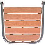 Badeplatform, Sejlbåd,Motorbåd, Rustfrit stål (A4),Teak (50x45cm) - 1stk.