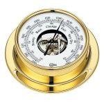 Barigo, Tempo, Barometer (110x85mm), Messing, Guldfarvet - 1stk.