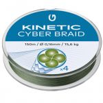 Kinetic, Fiskeline, Cyber Braid 4, 0,20mm, 150m, 18kg - 1stk.